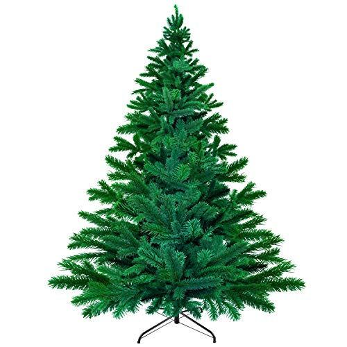 AODOOR 6ft Artificial Christmas Tree with Solid Metal Stand,Holiday Decoration with 1,422 Branch Tips Perfect for Indoor and Outdoor,Green
