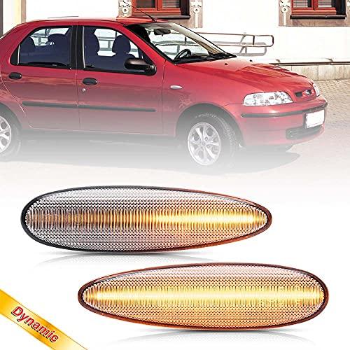 NSLUMO marcadores laterales LED, lámparas, intermitentes, indicadores secuenciales, luz intermitente para Bravo y HGT Marea Croma II Palio Albea, 2 uds, lente transparente