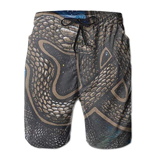 maichengxuan Beach Shorts Celtic Snake Stretch Mens Boardshorts Swim Trunks Cool Men Tropical Basketball Athletic Board Shorts
