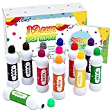 Dot Markers Kit, 12 Colors Washable Fun Art Marker for Toddlers, Bingo Daubers for Preschool Children, Dab Paint Marker Set Coloring Supplies Including Activity Book