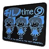 Alfombrilla de ratón Touhou Chill Cirno Time Alfombrilla de ratón de Goma Antideslizante Alfombrilla de ratón para Juegos Alfombrilla de ratón portátil de Escritorio 18×22 cm