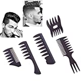 Styling Hair Comb Set Salon Barber Hairstylist Comb 5 Pack Professional Hair Brush Retro Hairdressing Hair Care Style Accessory Double-sided for Men Boy Gentleman