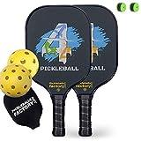 Paleta de Pickleball Pickleball Raqueta Pickleball Palas, Pickleball Bolas, Pickleball Net Bag, Pickleball Pelotas, 4 FOR 4 Pickleballs, Pickle Ball Equipment, Outdoor Cushion Covers