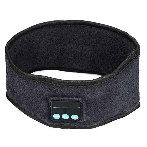 Zwini Bluetooth Bandeau sans Fil Musique Sport Casque Sommeil Écouteurs Haut-parleurs Stéréo Casque Mains Libres pour l'entraînement Jogging Sommeil Course Marche Yoga