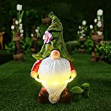 LUOWAN Estatua de Gnomo de Jardín de Patio de Luces LED de