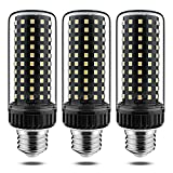 Yiizon LED Corn Bulbs E26 25W 200 Watt Equivalent Light Bulbs 3000 K Warm White 2500LM E26 Edison Screw Light Bulbs Non-dimmable Candelabra LED Light Bulbs 3 Pack