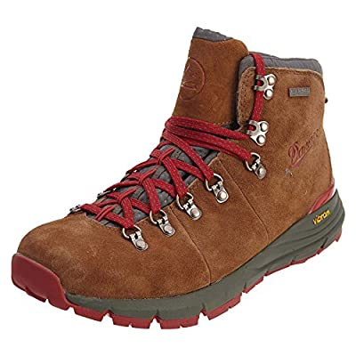 """Danner Men's Mountain 600 4.5"""" Hiking Boot, Brown/Red-Suede, 9.5 D US"""