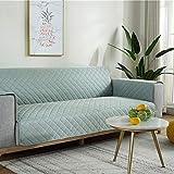 zyl Fundas Decorativas para Sofás,1/2/3 Plazas Funda Cubre Sofá Impermeable,Fundas para Sofa Acolchado,Protector para Sofás,Cubre Sofa Reversible,Green-3seat