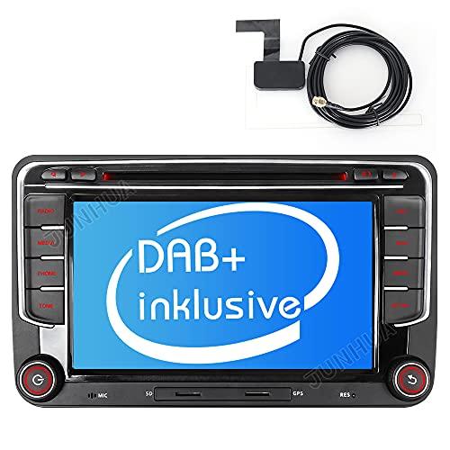 "Built-in DAB+ Autolink Autoradio mit Navigation 7\"" 2DIN Auto DVD Player Stereo für VW Passat B6 Golf V VI 5 6 Polo cc Tiguan Touran EOS Scirocco Caddy mit GPS Sat 16GB Navi Karte Bluetooth USB SD SWC"