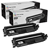 LD Compatible Toner Cartridge Replacement for Canon 051 2168C001 (Black, 2-Pack)