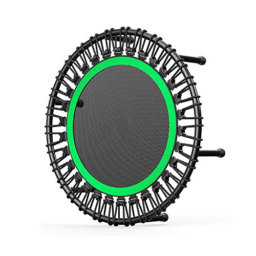 YY-JJ Mini Trampoline Set,children Home Indoor Jumping Bed,Gym Special Elastic Rope Jumping Bed,For Indoor Outdoor Exercise Workout,fitness trampoline (Color : Green, Size : 40 inch)