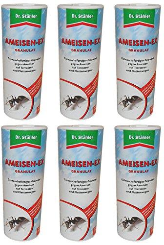 Stähler 6 x 500 g Dr Ameisen-EX Granulat Streu- und Gießmittel