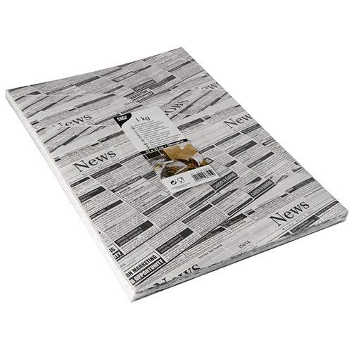 Newsprint 1 kg Einschlagpapiere, Pergament-Ersatz 35 cm x 25 cm fettdicht