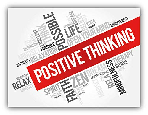 Positive Thinking Label Vinyl Decal Sticker for Laptop Fridge Guitar Car Motorcycle Helmet Toolbox Luggage Cases 4 Inch In Width