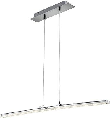 Reality Leuchten Spread Lámpara Colgante, 8 W, Chrom