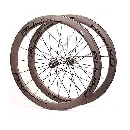 Zyy Ruedas de bicicleta de carretera de fibra de carbono 700c 38/50 mm Clincher aleación disco freno Ciclismo ruedas V-Brake QR 8-9-10-11 velocidad negro 1810g (tamaño: 38 mm)