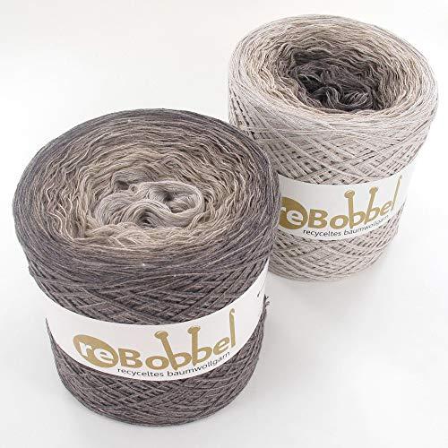 ReBobbel 50/50 Farbverlaufsgarn aus recycelter Baumwolle 4fach 1000m Sand