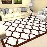 LMDY Alfombra para el hogar nórdico Moderno Minimalista Sala de Estar sofá Dormitorio Manta de Noche Estudio decoración geométricaAlfombra de Puertablancablanco120*160cm