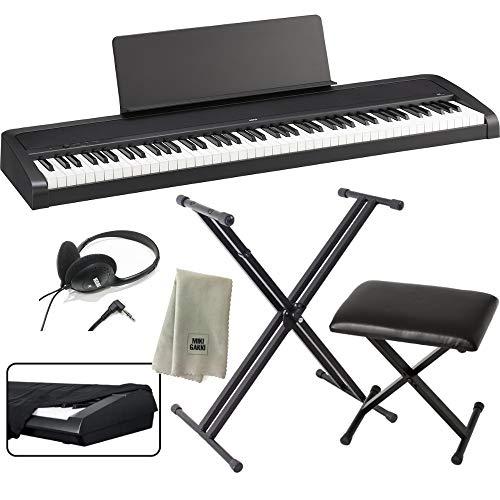 KORG 電子ピアノ B2 BK 88鍵 ブラック X型スタンド+ピアノ椅子+純正ヘッドホン+ダストカバー セット