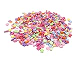 500 Pcs Mixed Color Acrylic Beads Mini Shell Fish Starfish Beads with Hole for Jewelry Making DIY Craft Accessories