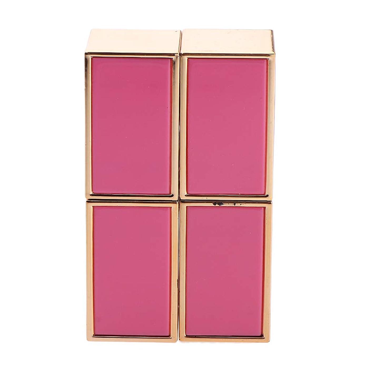プラグところで取り消すP Prettyia 2本 口紅管 口紅チューブ DIY リップバーム/リップスティック 手作り化粧品 2色選べ - ピンク
