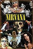 Nirvana Metall Blechschild Retro Metall gemalt Kunst Poster