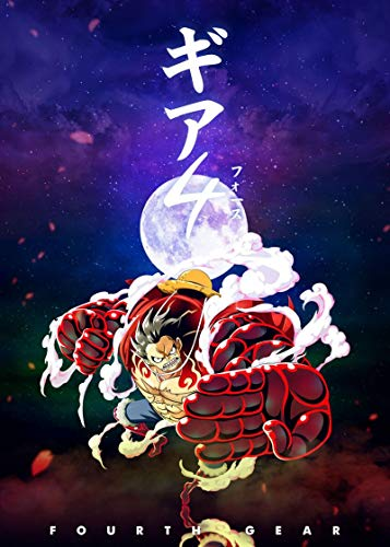 XIAOLINJIE Anime Luffy Canvas Art Poster and Wall Art Picture Print Modern Family Bedroom Decor Posters 22x34inch(56x85cm) NoFramed