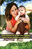 BABY NAMES LIST IN THE USA, ENGLAND, SPAIN, BRAZIL, AFRICA AND ARGENTINA: Many Ideas Of Male And Female Names From Around The World - Paperback Version - Italian Language Edition