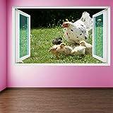 Pegatinas de pared para Bebé pollos gallina pared arte pegatinas mural calcomanía niños habitación hogar granja decoración