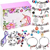 monochef DIY Charm Bracelet Making Kit, Jewelry Making Supplies Bead Snake Chain Jewelry Gift Set for Girls...