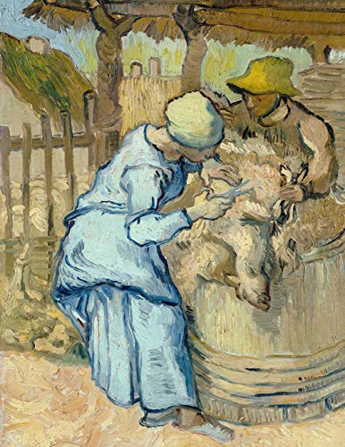 The sheep-shearer (after Millet), Vincent van Gogh. Blank journal: 150...