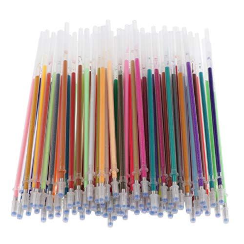 sharprepublic Bunte Gelstift Mine farbig Kugelschreiberminen Gel Stift Nachfüllungen zum Schreiben - 100 Stück