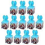 Qemsele Scatole Borse Festa per Bambini, 12 PCS Scatole Caramelle scatole di Regalo Borse Sacca Sacchettini del per Festa di Compleanno Bambini bomboniare Sacchetto Festa (Avengers)