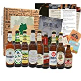 Regalo de viaje de cerveza de Alemania establecido como una idea de regalo con 9 x 0.33 especialidades de cerveza de Alemania, las mejores cervezas de Alemania para probar