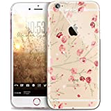 Coque iPhone 5S,Coque iPhone 5,Fleurs Pissenlit motif Diamant strass brillant Bling Transparente Silicone Gel TPU Souple Housse Etui de Protection Case Coque pour iPhone SE/5S/5,rose pêche floral
