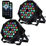LITAKE DJ Stage Lights, 36 LED DJ Par Lights Sound Activated, DMX & Remote Control Wash Lights,Color Changing Sound Activated Church Stage Lights for Christmas Party Wedding Concert, 2 Packs