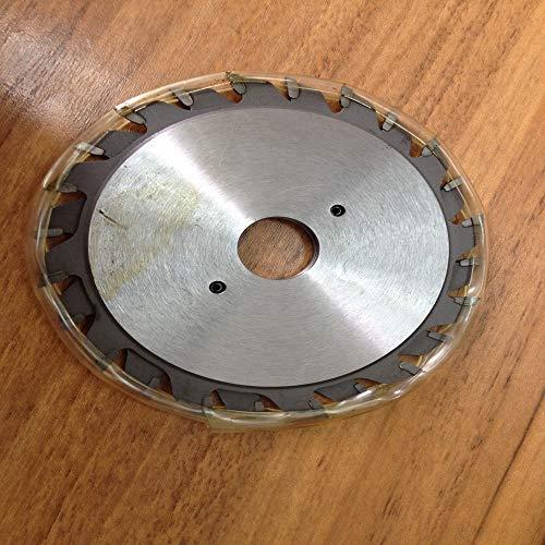 LITAO-XIE, LT-Discs, 1 Doppelklingen 120 x 2,8–3,6 x 22/20 x 12 + 12 T TCT verstellbare Ritzen-Klinge für das Ritzen von Aluminiumplatte/Aluminium (Farbe: 22 mm, Größe: 2,8 3,6 mm).