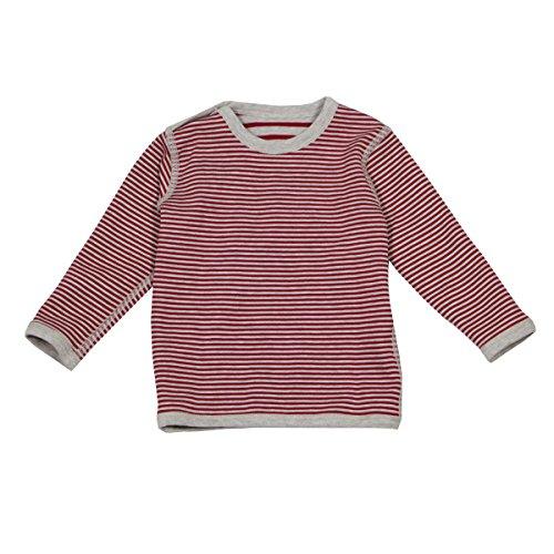 Leela Cotton Baby/Kinder Wende-Langarmshirt Bio-Baumwolle, Ziegelrot, Gr. 62/68