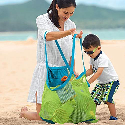 Household Articles LGMIN Portable Mesh Children Beach Dredging Tools Toy Quick Storage Bag Handbag Convenient and practical