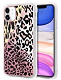 XNMOA for iPhone 11 Case Leopard Print Luxury Case for Women Protective Shockproof Slip Resistant Hard Back Slim Fit Girly TPU Bumper Phone Cover for iPhone 11 6.1 inch Brown