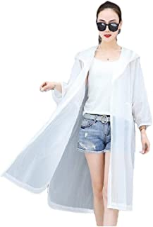 Howely Womens Hoodie Sunscreen Casual Solid Color Baggy Jacket Overcoat