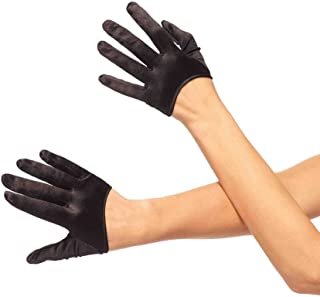 Leg Avenue Women's Mini Cropped Satin Gloves