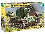 Zvezda Maqueta de Tanque Ruso KV-2 Gigant, Escala 1:35 WWII, Modelo de construcción de plástico, para Montar, réplica Detallada (3608)