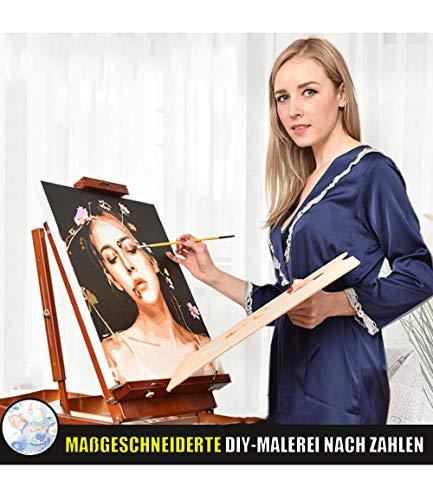PJCNEW Personalisierte Foto Custom Malen Nach Zahlen Für Erwachsene, DIY Malen Nach Zahlen Kits Ölgemälde Geschenk Für Erwachsene Anfänger-Ohne Rahmen
