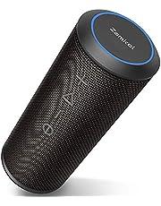 ZamKol ZK606 Bluetoothスピーカー ワイヤレススピーカー ブルートゥーススピーカー 24W出力【TWS対応/デュアルドライバー/360°ステレオ重低音/IPX6防水/內蔵マイク/15時間連続再生/ハンズフリー】ポータブルスピーカー アウトドア iPhone & Android対応 (ブラック)