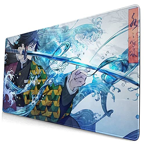 Demon Slayer Mouse Pad Kimetsu No Yaiba Large Gaming Mouse Pad Anime Mouse Pad Mat for Computer and Laptop 15.8x29.5In