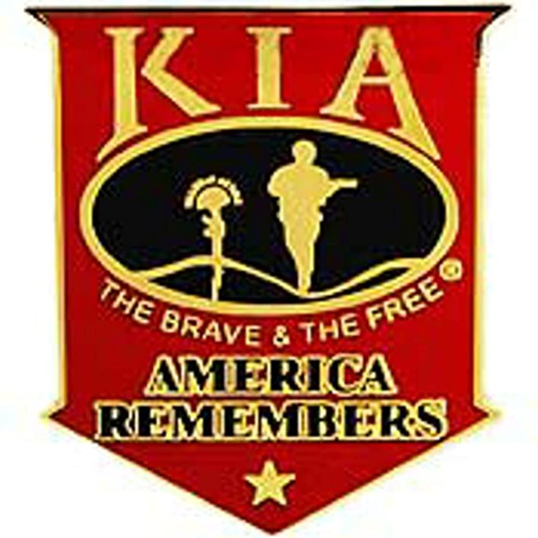 EagleEmblems P40222 Pin-Kia,America Remembers (Shield) Red/Blk (1.5'')