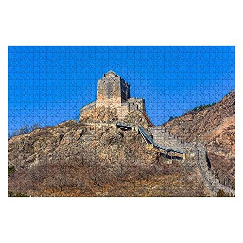 Torre de vigilancia de 1000 piezas en la pared de la Gran China Rompecabezas de piezas grandes para adultos Juguete educativo para niños Juegos creativos Entretenimiento Rompecabezas de madera Decorac
