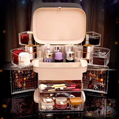 CHICTI Make-up Organisator met lade, roterende opvouwbare sieraden opbergdoos parfum draagbare display cosmetische standaard doos