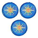 Solar Sun Rings UV Resistant Above Ground Inground Swimming Pool Hot Tub Spa Heating Accessory Circular Heater Solar Cover, Blue (3 Pack)